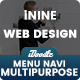 UI Kits iNine Menu Navigation Web Design - 04 PSD