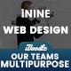 UI Kits Wireframe Meet Our Teams - 02 PSD