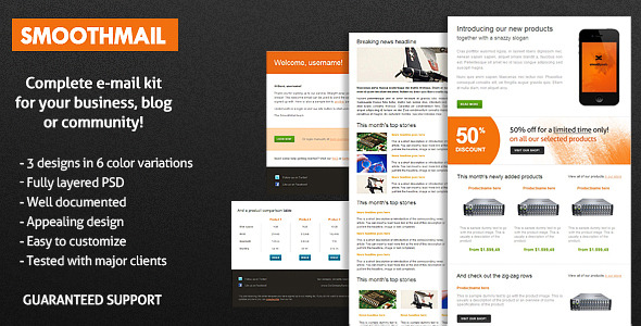 Free Download SmoothMail E-Mail Template Nulled Latest Version