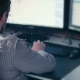 Man Working At Computer In Contemporary Office - VideoHive Item for Sale