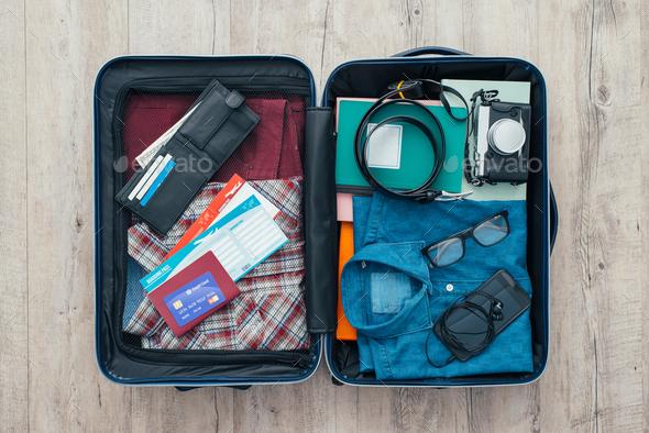 Traveler's bag - Stock Photo - Images