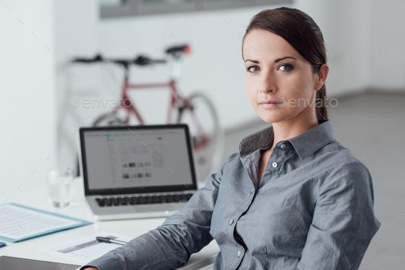 Beautiful business woman portrait - Stock Photo - Images