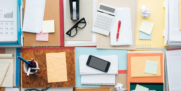 Full business desktop - Stock Photo - Images