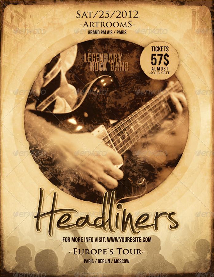 Indie Rock Band Flyer/Poster by muzikizum | GraphicRiver