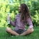 Young Man Drinking Bottle Of Water With Dreadlocks - VideoHive Item for Sale