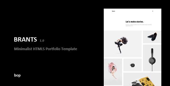 Brants – Minimalist HTML5 Portfolio Template