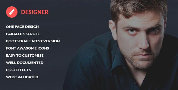 Designer - Presonal Bootstrap HTML5 Template - Portfolio Creative