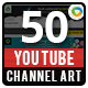 Multipurpose Youtube Channel Arts - 50 Designs - GraphicRiver Item for Sale