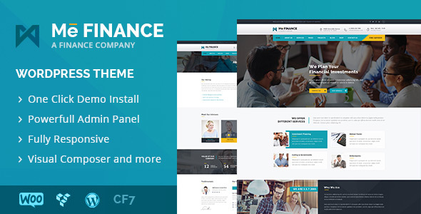 Me Finance - Business and Finance WordPress Theme - Business Corporate