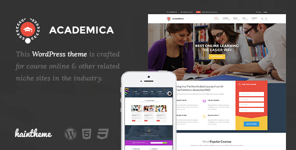 Academica - Education Center WordPress Theme - Education WordPress