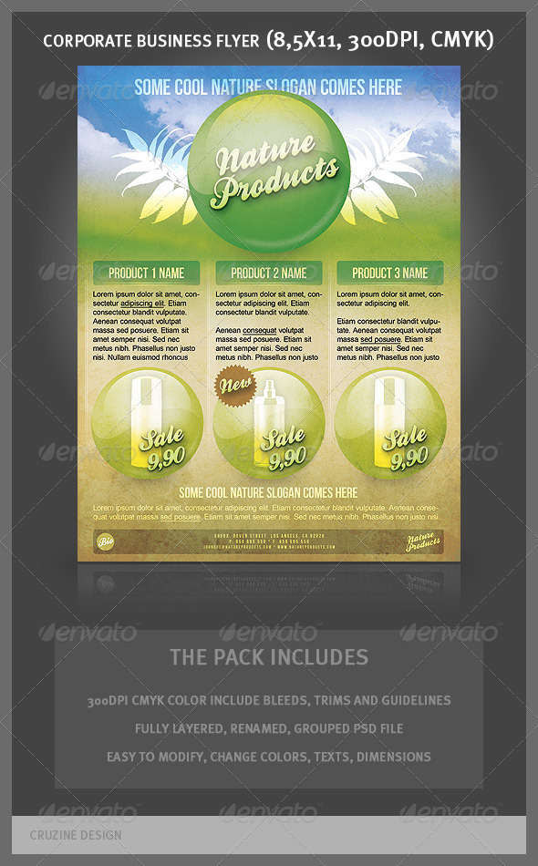 Corporate Business Flyer - Nature Products - Corporate Flyers