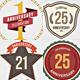 10 Anniversary Vintage Badges - GraphicRiver Item for Sale