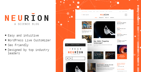 Neurion – Science Blog Responsive WordPress Theme