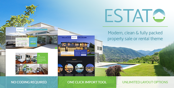 Estato – Single Property Sale & Rental Theme