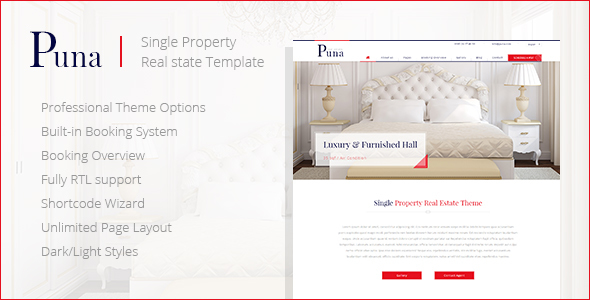 Puna - WordPress Single Property Real estate Theme - Real Estate WordPress
