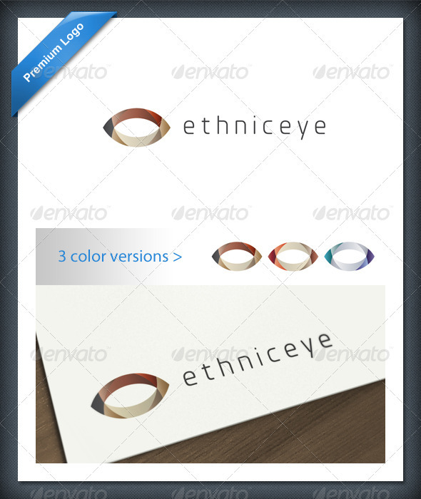 Abstract Ethnic Eye Logo Template - Abstract Logo Templates