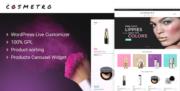 Cosmetro – Cosmetics Store WooCommerce Theme