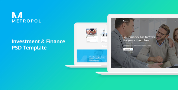 Metropol - Investment & Finance PSD Template - Business Corporate