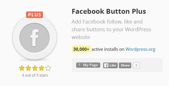 Facebook Button Plus - CodeCanyon Item for Sale