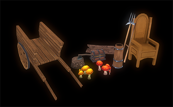 Hand-Painted Props Pack - 3DOcean Item for Sale