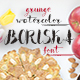 Boriska watercolor grunge font - GraphicRiver Item for Sale