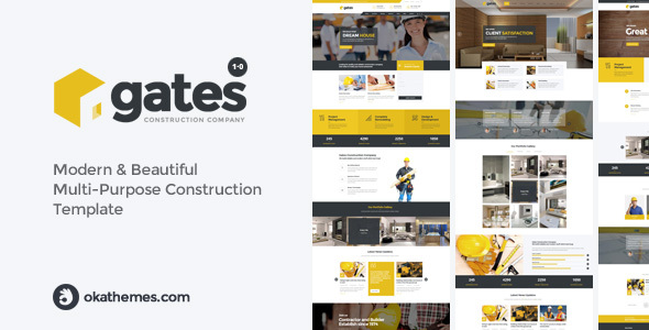 Gates - Multi-Purpose Construction Website Template - Creative Site Templates