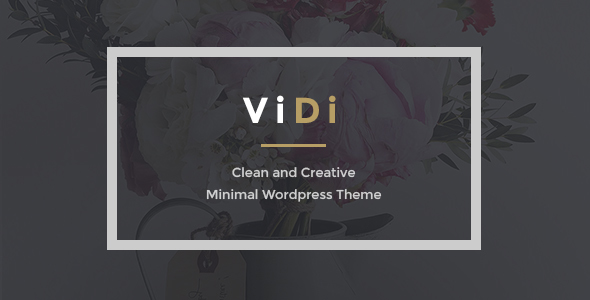ViDi – 3 in 1 Creative Portfolio WordPress Theme