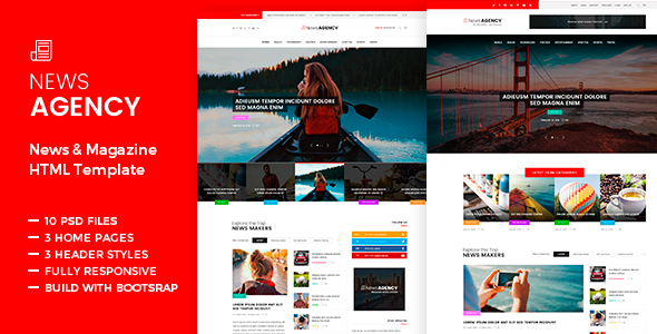 News Agency - News Magazine Newspaper HTML - Creative Site Templates