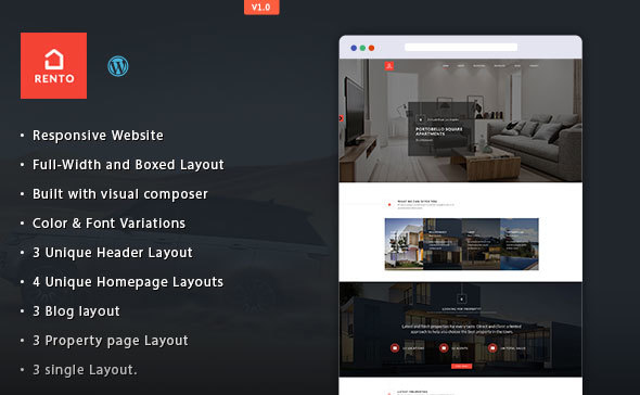 Rento – Real Estate WordPress Theme