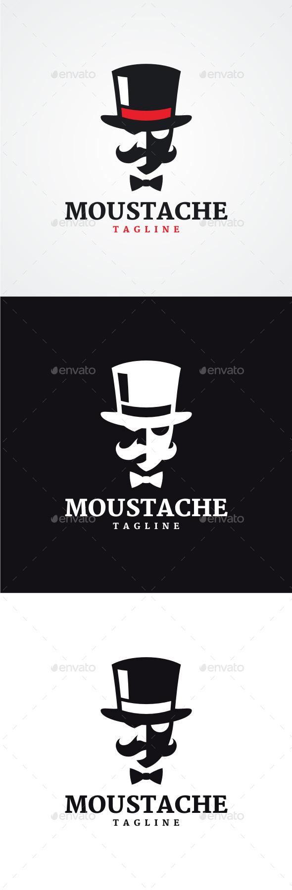 Moustache Logo - Humans Logo Templates