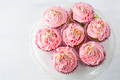 Pink cupcakes  on cake stand top view - PhotoDune Item for Sale