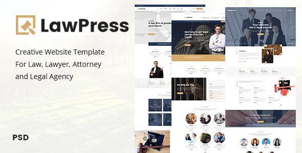 LawPress – Creative Website Template For Law, Lawyer, Attorney and Legal Agency