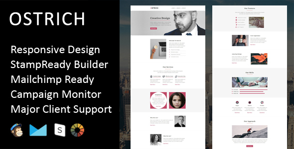 Ostrich – Multipurpose Responsive Email Template + Stampready Builder