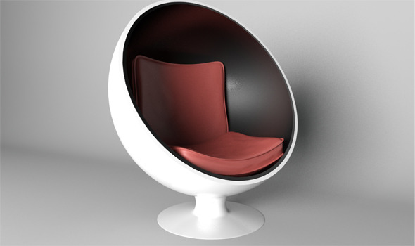 Sphere Chair With Modern Seat Rander In Mantal Ray - 3DOcean Item for Sale