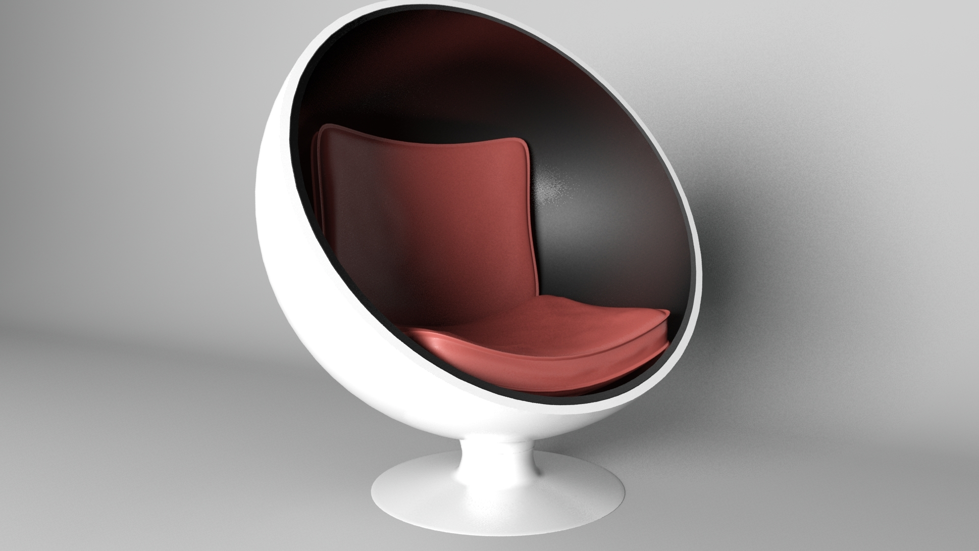 Sphere Chair With Modern Seat Rander In Mantal Ray by Cristean