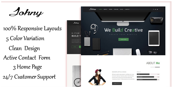 Johny - Responsive Resume / Personal Portfolio Template