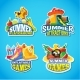 Summer Labels - GraphicRiver Item for Sale