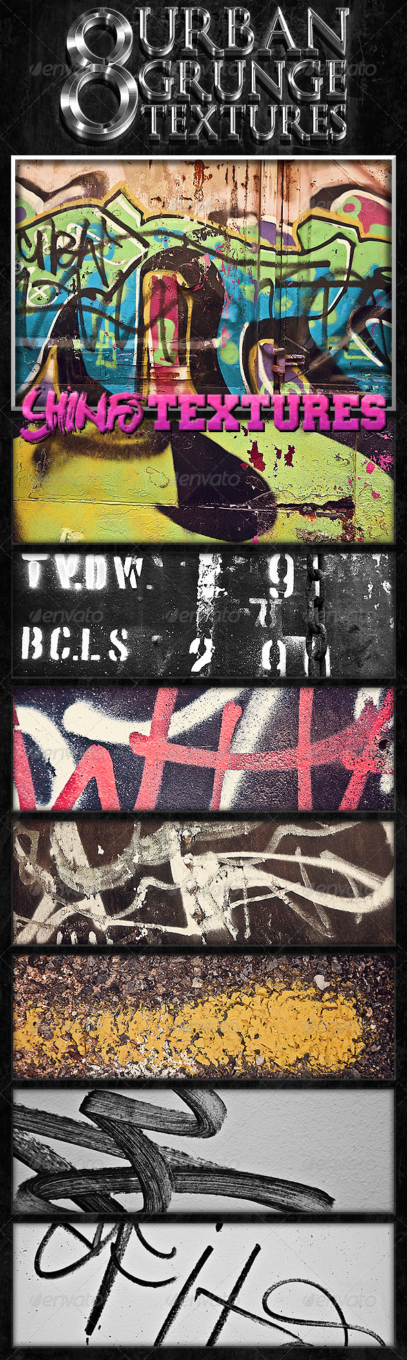 8 Urban Grunge Textures - Abstract Textures