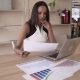 Indian Business Woman Working With Financial Documents In The Modern Office. - VideoHive Item for Sale