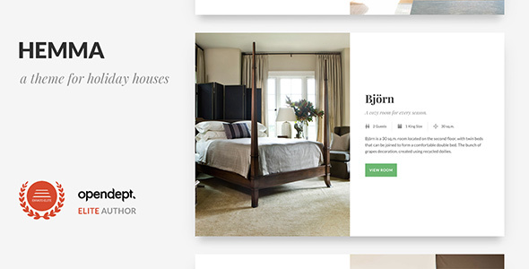 Hemma – A WordPress theme for Holiday Houses