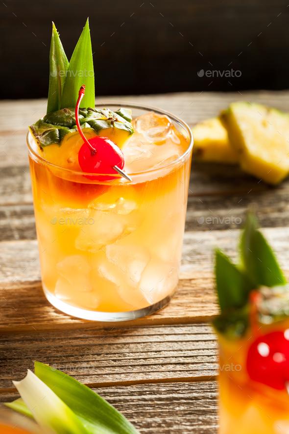 Homemade Mai Tai Cocktail - Stock Photo - Images