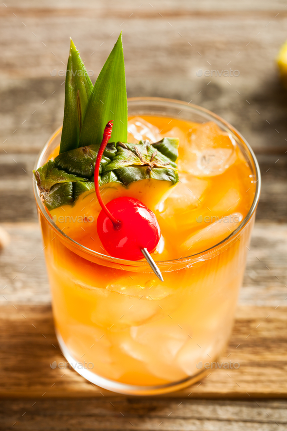 Homemade Mai Tai Cocktail - Stock Photo - Images