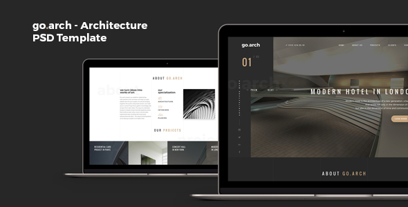 go.arch – Architecture PSD Template