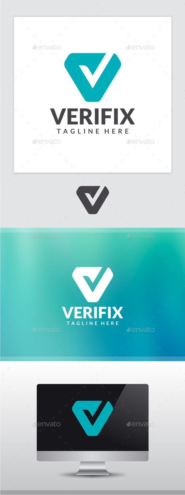 Verifix - Letter V Logo - Letters Logo Templates
