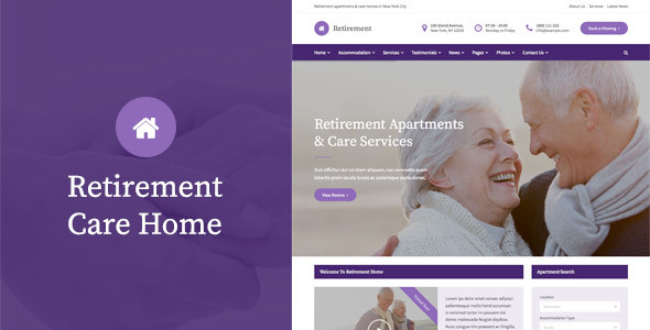 Retirement Care Home – WordPress Theme