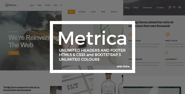 Metrica | Highly Flexible Component Based HTML5 Template