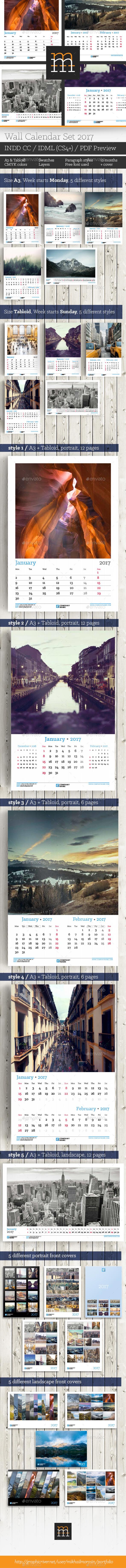 Wall Calendar Set 2017 - Calendars Stationery