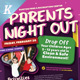 Parents Night Out Flyer Templates - GraphicRiver Item for Sale