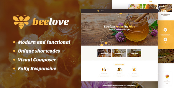 Beelove – Honey Production and Online Shop WordPress Theme