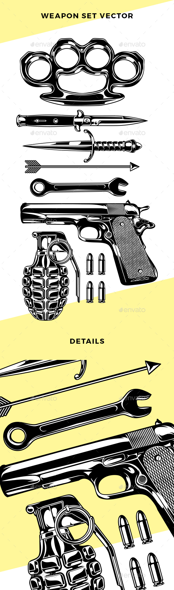Weapon Set Vector Illustration - Miscellaneous Characters